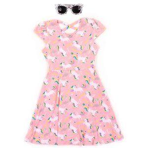 RMLA Girls 4-6X Yummy Unicorn Dress w/ Sunglasses